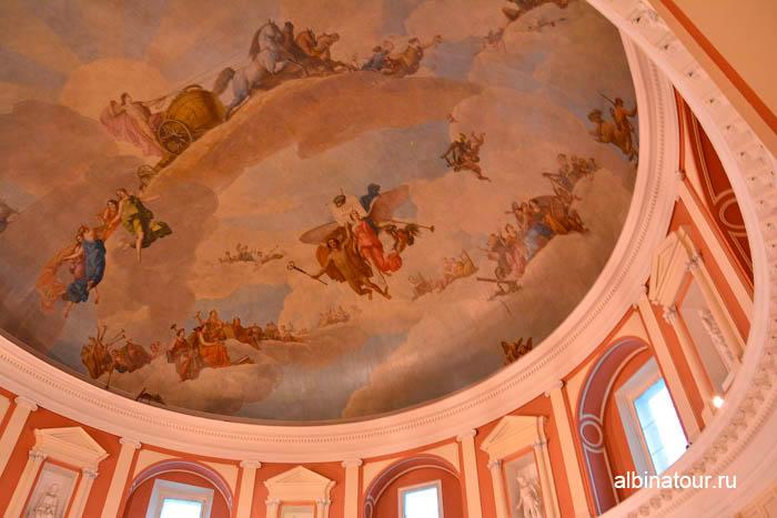 Расписной потолок конференц зал музей Академии художеств в СПб