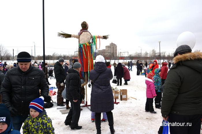 Санкт Петербург подготовка чучела масленицы 2017г. Купчино