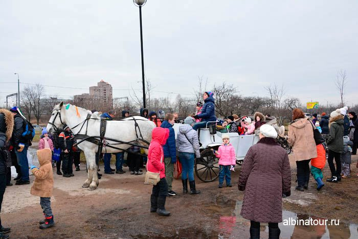 Можно покататься на белой коляски запряженная белой лошадью