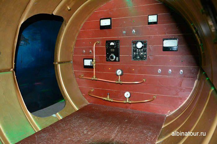 Фото прототип подводной лодки Наутилус крутим ручки