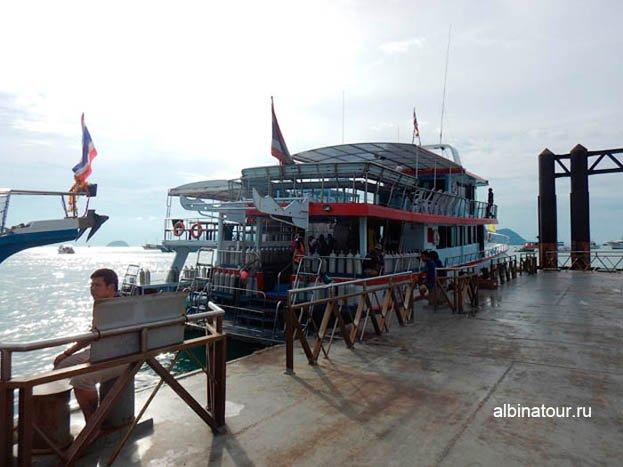 Фото Пхукет порт Чалонг Chalong pier Наш корабль для дайвинга