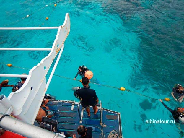 Фото Подъем на борт судна
