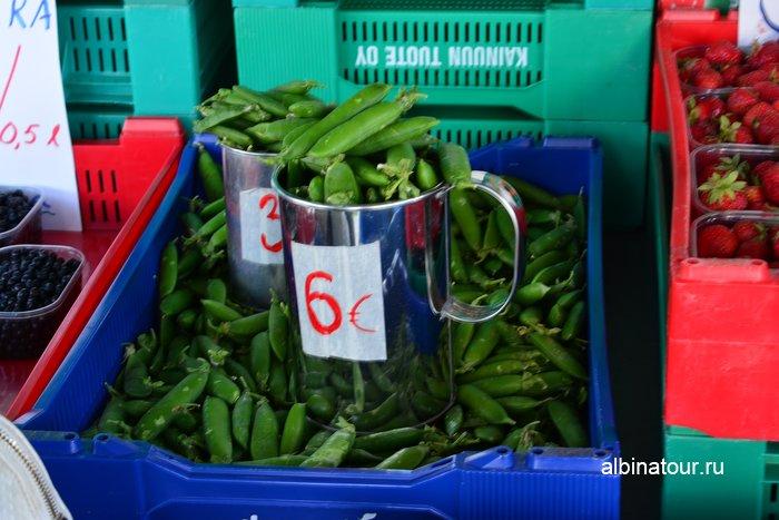 Фото цена на зеленый горошек в Финляндии