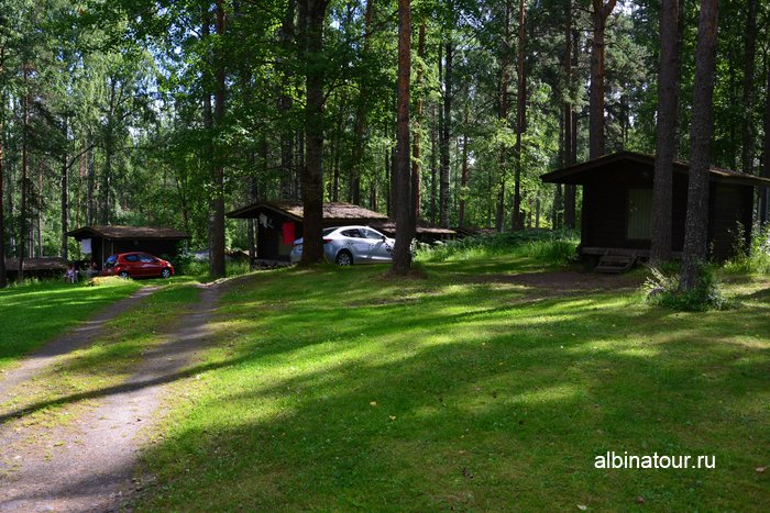 Фото одноэтажные домики разной площади в kemping huhtiniemi