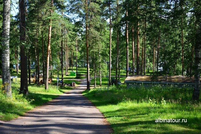 Фото поляна для размещения туристов с палатками в Хухтинием | Huhtiniemi camping в Лаппеенранте