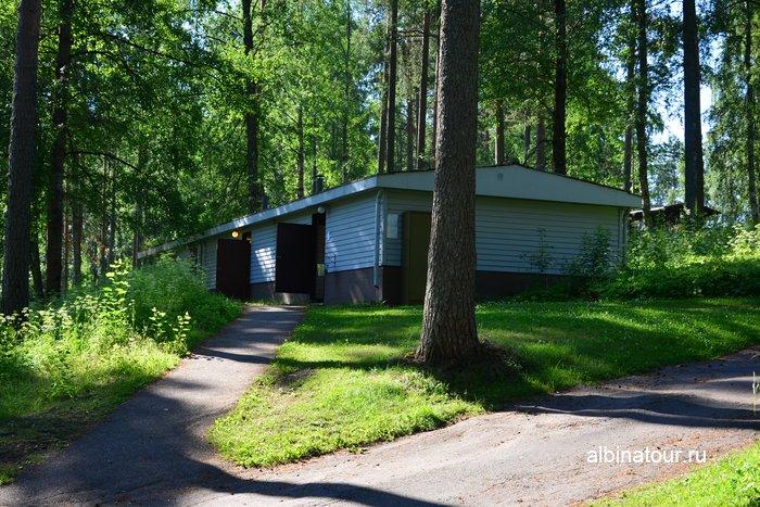 Фото дом гигиены в Хухтинием | Huhtiniemi camping в Лаппеенранте