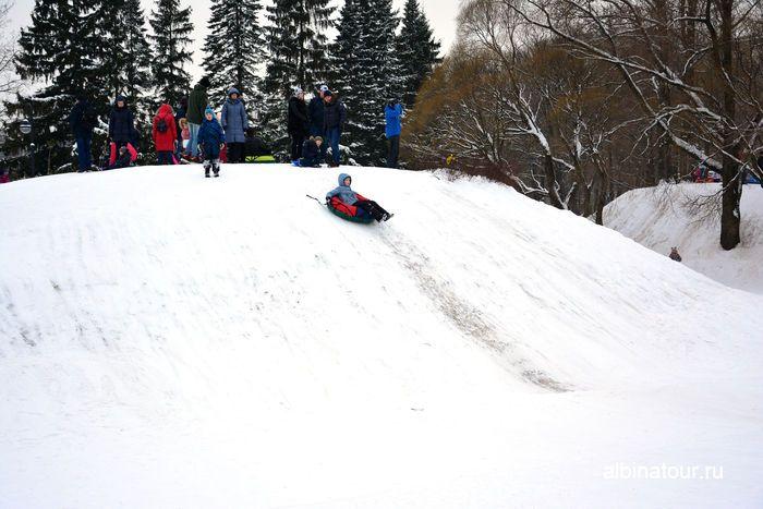 Одна из горок в парке Победы в Санкт Петербурге