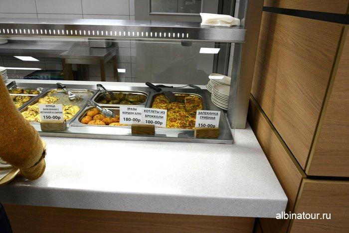 Цены на вторые блюда в историческом парке в СПб