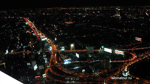 Ночной Бангкок смотровая площадка в Baiyoke Sky