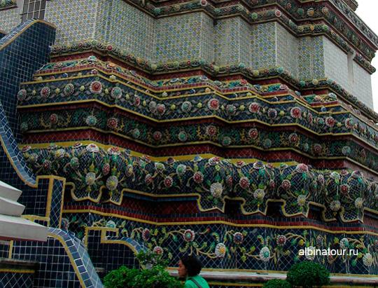Бангкок монастырь Ват По орнамент