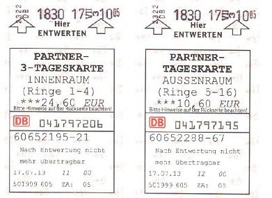 Германия билеты на транспорт Мюнхен
