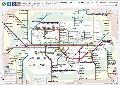 Германия Мюнхен схема транспорта