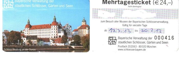 Германия билет на посещение Баварских замков на 14 дней