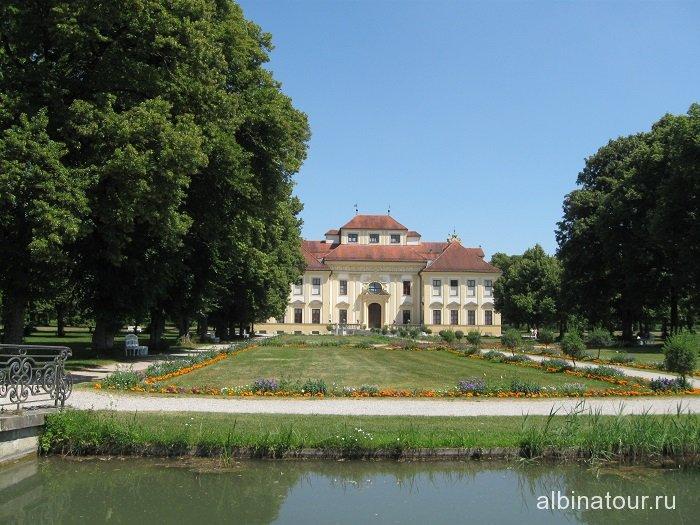 Бавария вид Лустхайм / Schloss Lustheim дворца Шляйсхайм Мюнхен