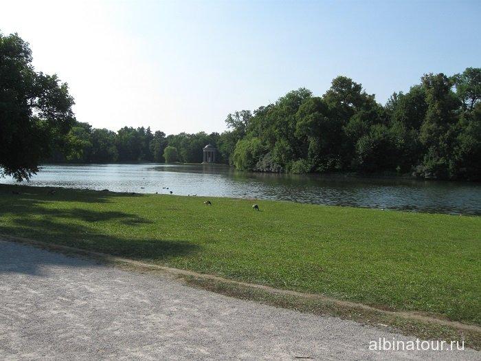 Бавария парк замока  Нимфенбург Мюнхен