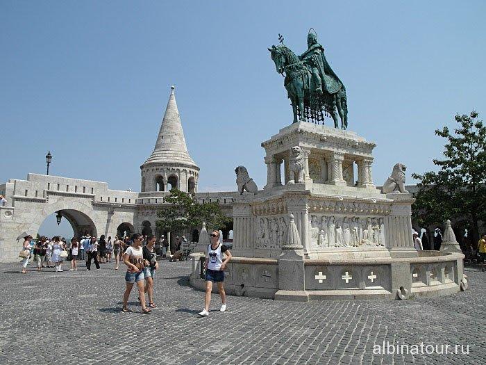 Венгрия памятник Святому Иштвану в Рыбацком бастионе