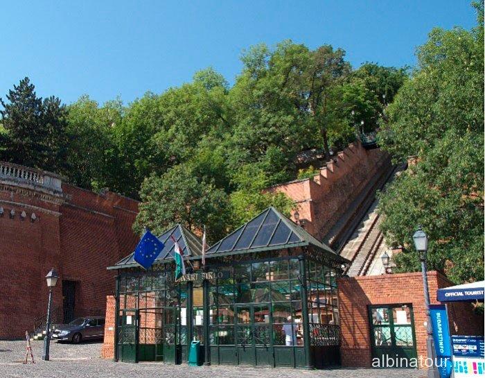 Венгрия станция фуникулера Siklo Будапешт
