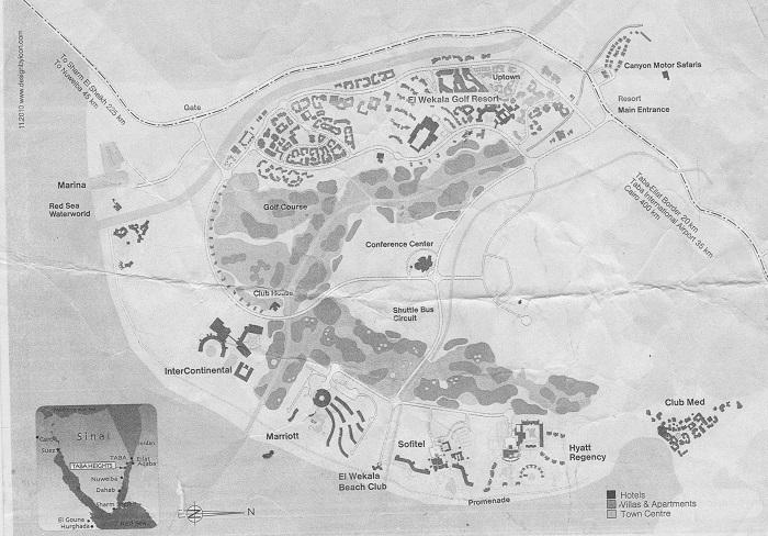 Египет Таба отель Софитель карта городка