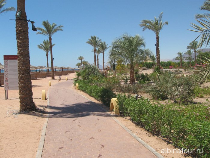 Египет Таба отель Софитель пешеходная дорожка