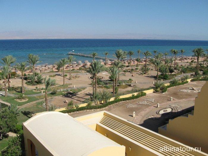Египет Таба Софитель вид на пляж и пантон