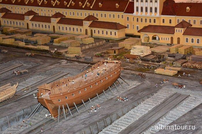 Россия Петербург исторический театр-макет «Петровская Акватория» 13