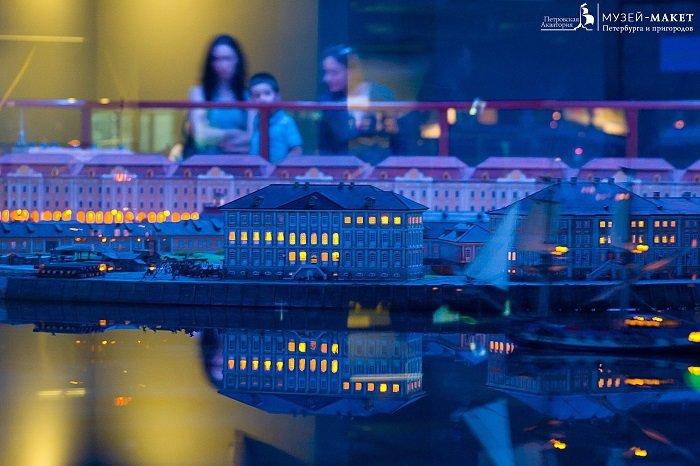 Фото СПБ ночной город петровская акватория Санкт Петербург