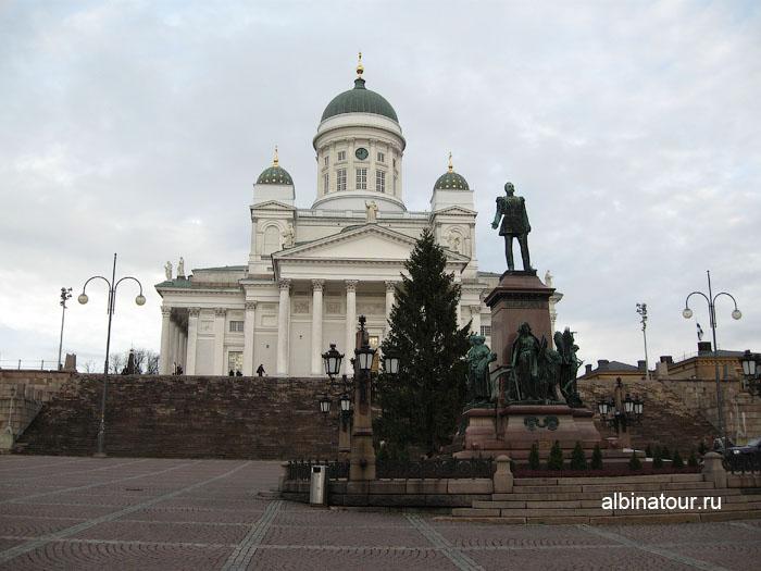 Финляндия Хельсинки кафедральный собор и площадь