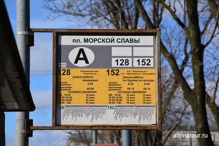 Россия Санкт-Петербург остановка у Морского вокзала расписание автобусов