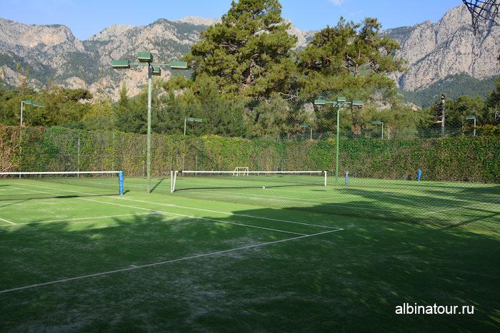 Турция Кемер отель Ма Бич теннисные корты