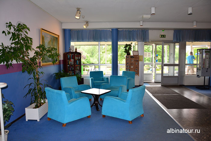 Финляндия Иматра зона отдыха ресепшен отеля Vuoksenhovi