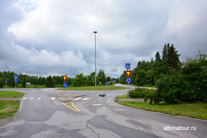 Финляндия Иматра дорога к отелю Vuoksenhovi