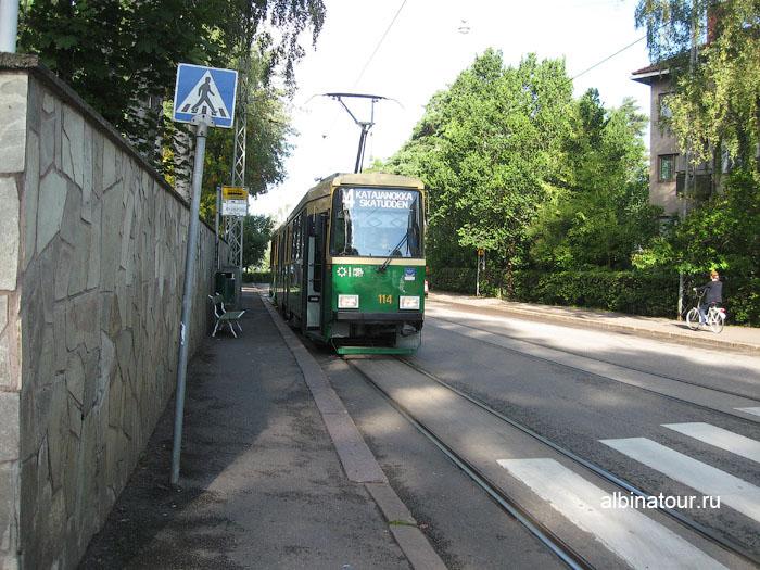 Финляндия Хельсинки отель Хилтон Hilton трамвай 4