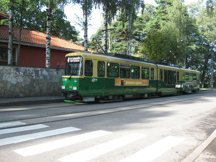 Финляндия Хельсинки отель Хилтон Hilton трамвай
