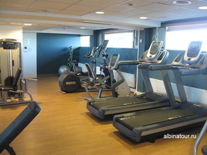 Финляндия Хельсинки отель Хилтон фитнес-зал
