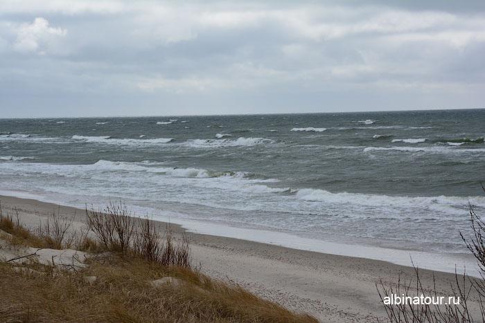 Россия Калининград Куршская коса Балтийское море в районе высота Эфа 2