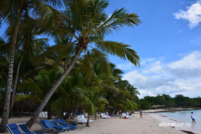 Доминикана остров Saona вид на пляж