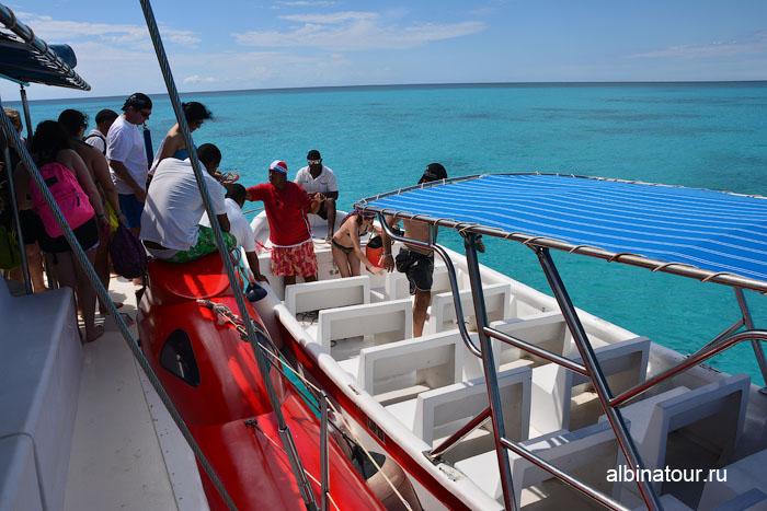 Доминикана путешествие на Saona перевозка на берег