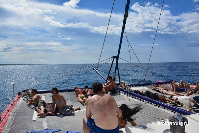 Доминикана путешествие на Саону катамаран 2