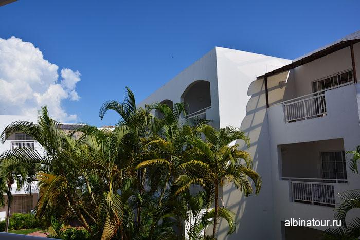 Доминикана отель be live Canoa вид с балкона в номере