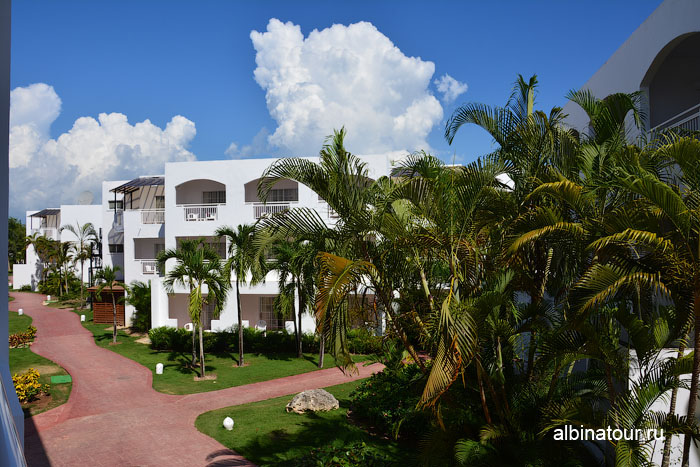 Доминикана отель be live Canoa вид с балкона в номере 2