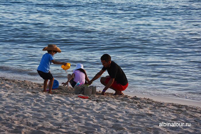 Доминикана отель Canoa пляж замки из песка 2