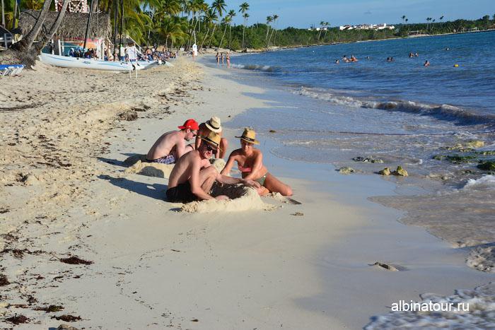 Доминикана отель Canoa пляж замки из песка