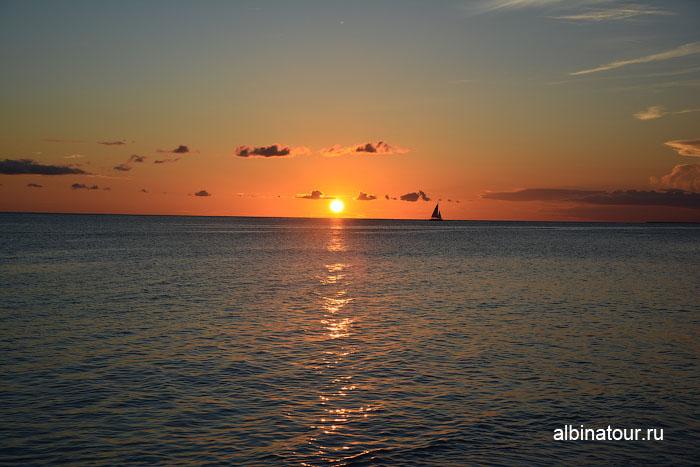Доминикана отель Canoa пляж заход солнца