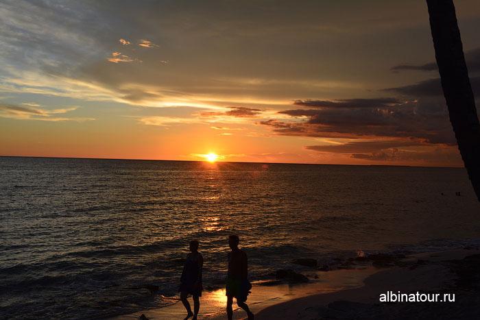 Доминикана отель Canoa на пляже заход солнца