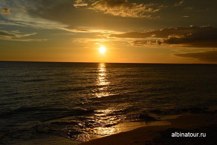 Доминикана Карибское море закат