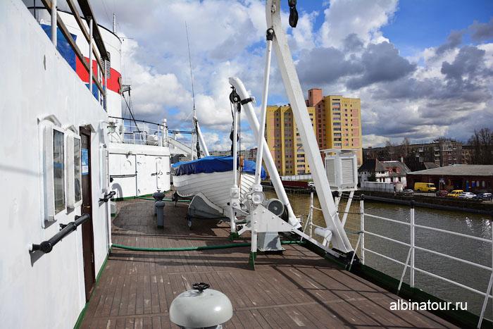 Калининград музей мирового океана судно Витязь палуба