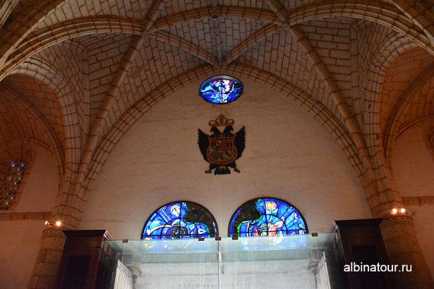 Доминикана Санто-Доминго Собор Санта-Мария витраж