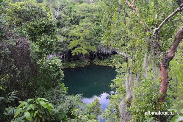 Доминикана Санто Доминго пещеры три глаза третье озеро 2