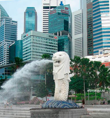 Сингапур символ города Мерлайон Merlion
