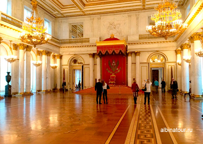 Большой тронный зал Эрмитаж в Петербурге фото